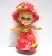 """Liddle Kiddle Clothes Outfit Set & Shoes for Vintage Mattel 3"""" Doll Not Included"""
