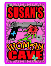 Personalized WOMEN CAVE Sign Printed with YOUR NAME.Custom Made Signs..Hi-Gloss