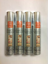 4 X Trial Size Sally Hansen Airbrush Makeup Foundation CREAMY NATURAL NEW.