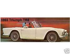 1965 Triumph TR4  Auto Refrigerator  / Tool Box Magnet Gift Card Insert Man Cave