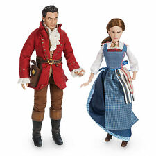 NIB Disney Store Beauty and the Beast BELLE & GASTON Live Action Film Doll Set