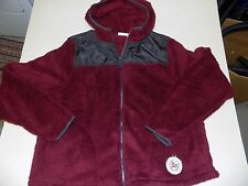 SO SHERPA  HOODED COAT PLUS SIZE 2XL -WINE-- NWT