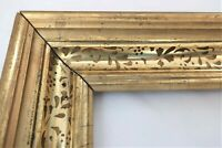 "Antique Fit 10 x 14"" Gold Gilt Picture Frame Stencil Wood Gesso Fine Art Country"