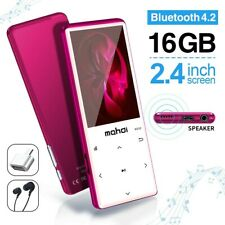 MYMAHDI MP3 Player with Bluetooth 4.2, Touch Buttons with 2.4 inch Screen, 16GB