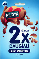 New PILDYK Tele2 Lithuania prepaid SIM card