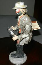 "1980's Emmett Kelly ""Hole In My Shoe"" Figurine Flambro Signature Limited Edition"