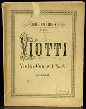 Partition / Score Viotti Concerto violon / Violin Concert 23 Bon état