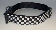 XL Checker COLLAR Dog Pet Big Puppy X-Large Ska Black White Chex Cool Cute NEW