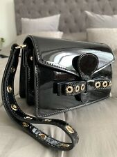 Red Valentino Womans Black Patent Leather Small Clutch