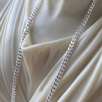 New Mens Tight Cuban Link Chain Necklaces 4.5mm 35GR 24Inch 925 Sterling Silver