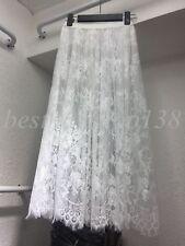 Women Half Slip Lace Underskirt Sheer Mesh Long Skirt Liner Dress