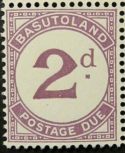 BASUTOLAND 1952 SG D2a. POSTAGE DUE  - VIOLET -  MNH