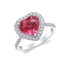 Natural Unheated Tanzanian Pink Spinel 3.08 carats set in Platinum Ring