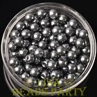 New 144pcs 8mm Round Czech Glass Pearl Loose Spacer Beads Deep Gray