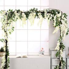 4Pcs Artificial Plant Rattan Wisteria Flower Leaf Vine Wedding Flower Wall Decor