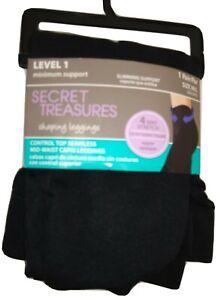 Secret Treasures Shaping Capri Leggings Black  Size M/L  New