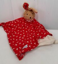 Bunny Lovey Kathe Kruse Das Original Blanket Security Germany red print rabbit