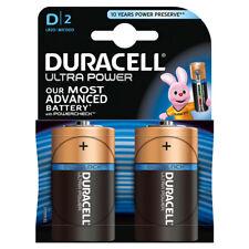 "NEW DURACELL 2 PACK D SIZE ULTRA POWER ALKALNE BATTERIES ""MX1300B2ULTRA"""