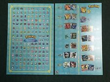 Pokemon Original 151 20th Anniversary Promotional Poster Near Mint Fast Shipping