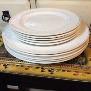 Pottery Barn Cabana ( 5) Dinner Plate ( 5 ) salad plate  5625194
