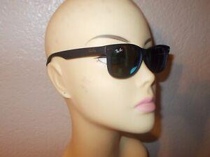 Ray-Ban RJ 9052S 100S/55 Matte Black Frame Blue Mirror Sunglasses KIDS