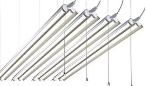 Hyperikon 4 ft. 38-Watt LED Aluminium Shop Light 5000K Frosted Cover 4 Pack