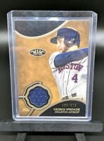 GEORGE SPRINGER SP #'d /375 Patch 2019 Topps Tier One MLB Relic Card - Astros