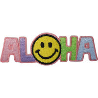 Hawaii Patch Iron Sew On Clothing Yellow Smiley Face Hawaiian Embroidered Badge
