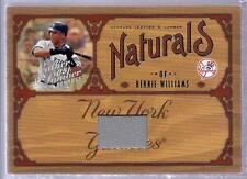 BERNIE WILLIAMS 2005 Leather & Lumber NATURALS Game Used JERSEY Card SP #d /100