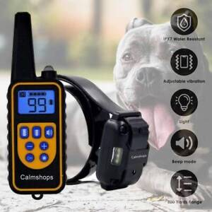 Dog Training NO SHOCK Collar Vibrating Dog Collar Remote Control Rechargeable