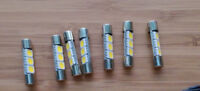 Sherwood  S-7100, S7100a,  S7200 LED lamps bulbs lights  (5x bulbs)
