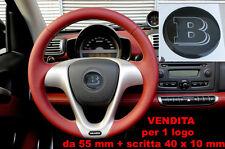 KIT TUNING STICKER RESINATO PER VOLANTE 3D 3M SMART BRABUS BIANCO CARBONIO 55 mm
