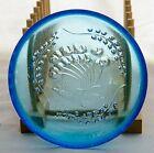 Rare Vintage Humppila Blue Glass Tutti Frutti Dessert Bowl Finland Nanny Still