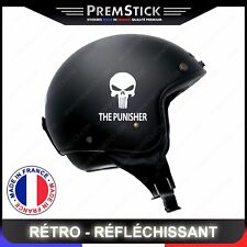 Kit 4 Stickers Retro Reflechissant The Punisher - Casque Moto autocollant, ref1