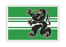 East Flanders Flag Sticker Bumper Belgium Belgique Motorcycle Bike