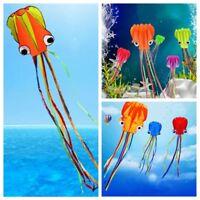 3D Power Sport Soft Parafoil Octopus Kite Outdoor Toy Single Line for Children