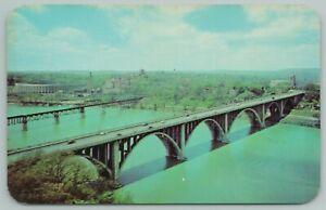 Knoxville Tennessee~Henley Bridge Over Lake Loudoun~Vintage Postcard