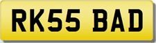 RK RKS  BADBOY Private CHERISHED Registration Number Plate