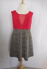 NWOT ABS Allen Schwartz Dress Women 2X 18W 20W Short Dress Short Sleeve Mesh