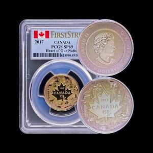 2017 Canada 3 Dollars (Silver) - PCGS SP69 - 🥇🌈 Toned Heart of our Nation