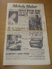 MELODY MAKER 1955 JULY 16 CHUCK WAYNE ALMA COGAN RAY ELLINGTON TONY BENNETT +