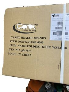 CAREX FOLDING KNEE WALKER A33800 BLACK plus hold up to 300 pounds - NEW