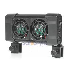 Cooling Fan (2 fans) Aquarium Chillers 80L Fish Tank+Power adapter 12V Low Noise