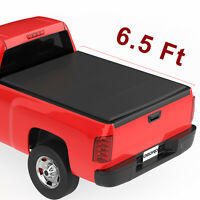 oEdRo Upgraded Soft Tri-Fold Truck Bed Tonneau Cover Compatible with 2009-2014 Ford F-150 F150 with 6.6 Feet Bed Styleside