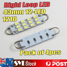 Ridig Loop Led Bulb 43mm 12LED 1210 Car Dome Map Trunk Marine Masthead Lights x4