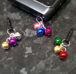 Jingle Bells Anti dust plug for 3.5mm earphone jack - mobile phone Xmas gift