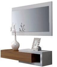 Mueble recibidor 1 cajón + espejo Walnut