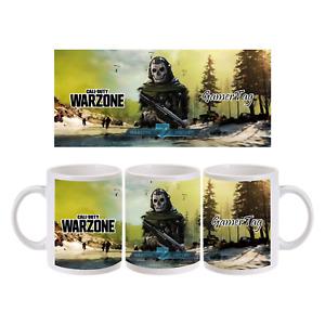 Call of Duty Warzone Personalised Mug 11oz PC PS4 XBOX Gamer Gift Birthday