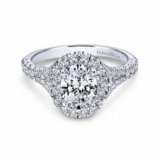 New Gabriel & Co. Oval Halo Engagement Ring Setting ER10291W44JJ