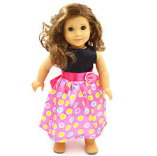 2016  Handmade fashion clothes dress for 18inch American girl doll party b124